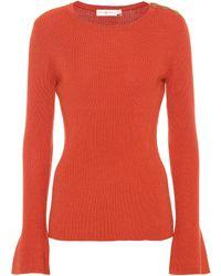 Tory Burch - Liv Merino Wool Sweater - Lyst