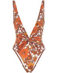 Dodo Bar Or Floral Swimsuit - Orange