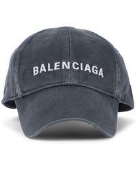 Balenciaga Logo Cotton Cap - Grey