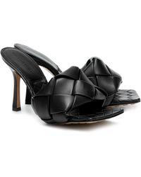Bottega Veneta Mules en cuir à tissage intrecciato BV Lido - Noir