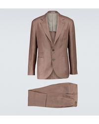 Brunello Cucinelli Anzug aus Leinen - Braun