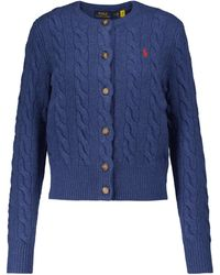 Polo Ralph Lauren Wool And Cashmere Cardigan - Blue