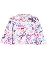 Isabel Marant Sweat-shirt Minazio raccourci imprimé en coton mélangé - Multicolore