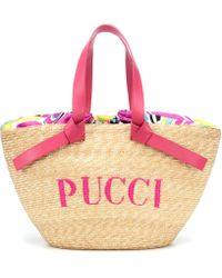 Emilio Pucci - Rascello Straw Tote Bag - Lyst