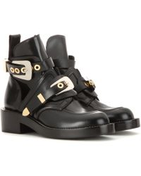 Balenciaga Ankle Boots Ceinture aus Leder - Schwarz