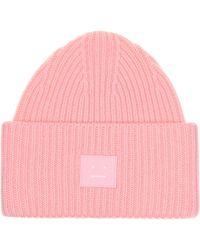 Acne Studios Pansy N Face Wool Beanie - Pink