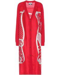 Monse X Disney® Cardigan aus Wolle und Seide - Rot