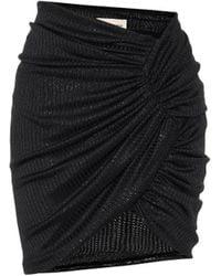 Alexandre Vauthier Mini-jupe asymétrique - Noir
