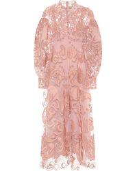 Zimmermann Vestido largo Ladybeetle Fortune - Rosa