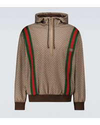 Gucci Sudadera con capucha Mini GG de punto - Metálico