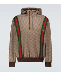 Gucci Mini GG Jersey Hooded Sweatshirt - Metallic