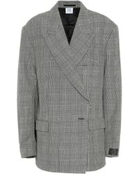Vetements Houndstooth Wool Blazer - Gray