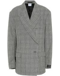 Vetements Houndstooth Wool Blazer - Multicolour