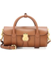 Burberry - The Small Trench Leather Barrel Bag - Lyst