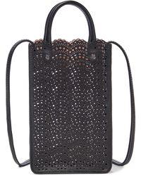 Alaïa Garance Small Leather Crossbody Bag - Black
