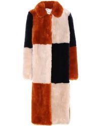 Stella McCartney Abrigo Fur Free Fur - Naranja