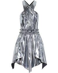Isabel Marant Kary Metallic Silk-blend Minidress