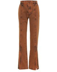 Y. Project High-Rise Flared Jeans - Orange