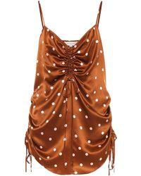 Lee Mathews Talulah Polka-dot Silk-satin Camisole - Multicolour