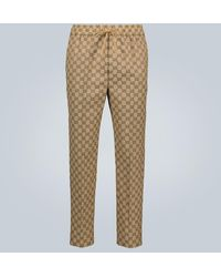 Gucci Pantaloni in tela GG - Neutro