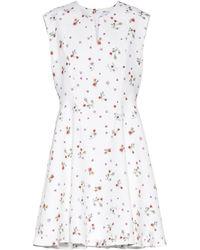 Carven - Printed Crêpe Mini Dress - Lyst