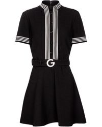 Gucci Minikleid aus Woll-Crêpe - Schwarz