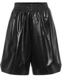 Bottega Veneta Leather Shorts - Brown