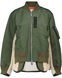 Sacai Paneled Bomber Jacket - Green