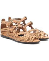 See By Chloé Katie Leather Sandals - Brown