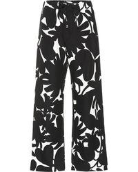 Marni Hose aus einem Leinengemisch - Schwarz