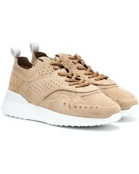 Tod's Sneakers in suede - Neutro