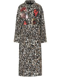 Raf Simons Trench a stampa leopardata - Marrone
