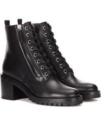 Gianvito Rossi Ankle Boots Croft aus Leder - Schwarz