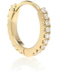 Maria Tash Einzelner Ohrring Eternity aus 18kt Gelbgold mit Diamanten - Mettallic