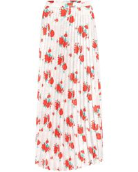 Vetements Floral Midi Skirt - Red