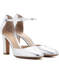Gianvito Rossi - 54 Mid Metallic Leather Court Shoes - Lyst