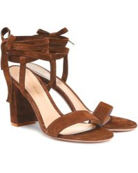 Gianvito Rossi - Exclusive To Mytheresa – Gaia 85 Suede Sandals - Lyst