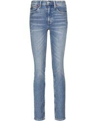 Polo Ralph Lauren High-Rise Slim Jeans Tompkins - Blau