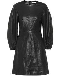 Tibi Robe en cuir synthétique - Noir