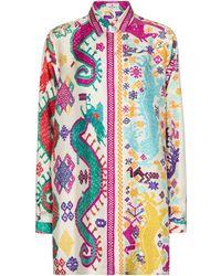 Etro Hemd aus Seiden-Twill - Mehrfarbig