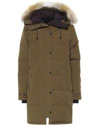 Canada Goose Shelburne Fur-trimmed Down Coat - Green