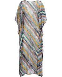 Missoni Caftano lungo in maglia - Multicolore