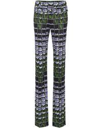 Prada Bedruckte Hose aus Jersey - Schwarz