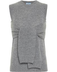 Prada Wool And Cashmere Jumper - Grey
