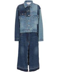 Sacai Chaqueta de jeans deconstruida - Azul