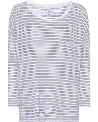 Velvet - Manuka Striped Cotton-blend Top - Lyst