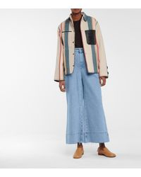 Loewe High-rise Cropped Jeans - Blue