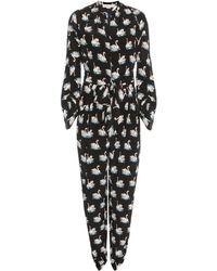 Stella McCartney - 'monia' Swan Print Jumpsuit - Lyst