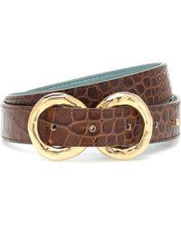 Rejina Pyo Exclusive To Mytheresa – Infinity Croc-effect Leather Belt - Brown