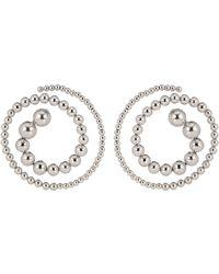 Y. Project - Silver Pearl Spiral Earrings - Lyst